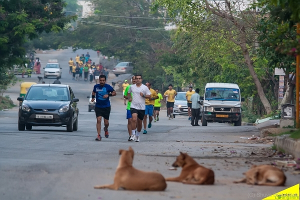 Local run at Bangalore