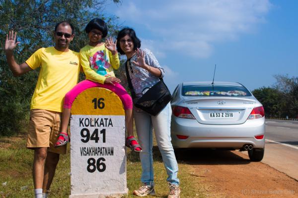 Half way to Kolkata