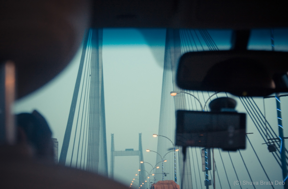 Vidyasagar Setu from the backseat