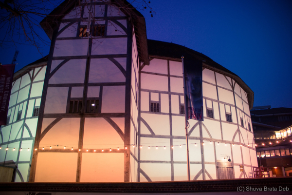 London at night, IV: Shakespeare's Globe