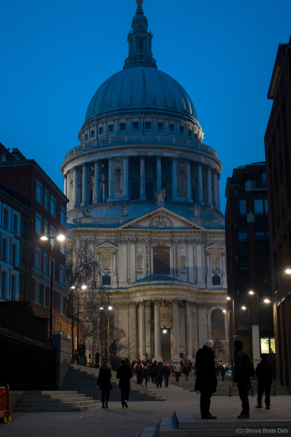 London at night, IV: St Paul Cathedral