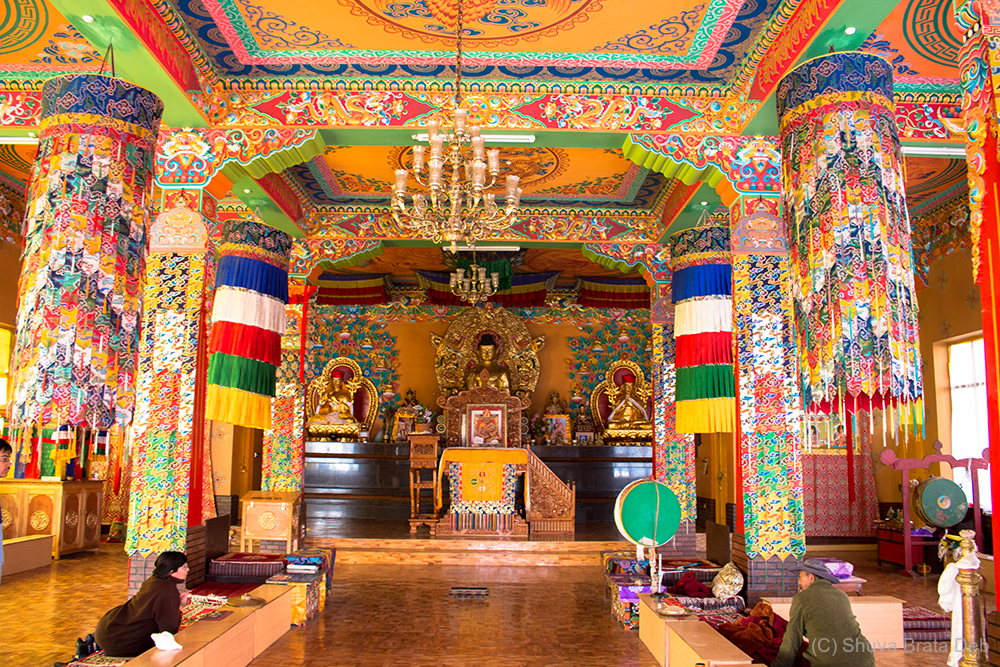 Splash of colors inside the monastery