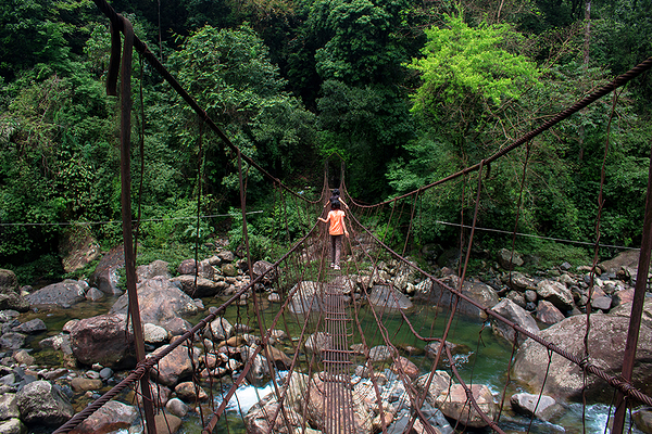 Hanging bridge to next village
