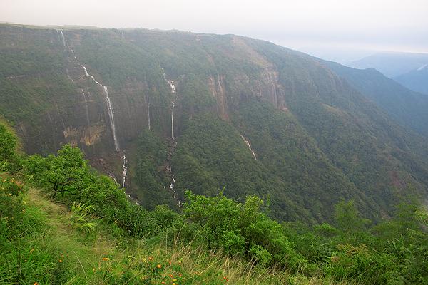 Cherrapunjee's Seven sisters waterfall