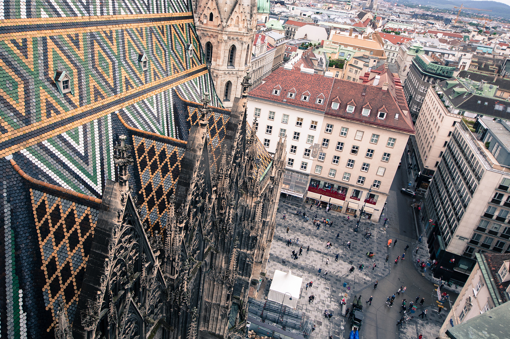 View from St Stephen's Cathedral, Vienna