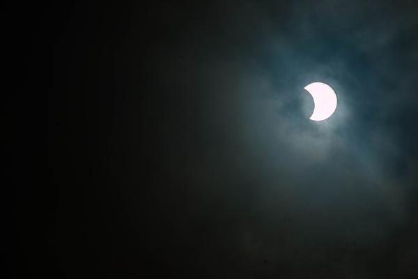 Partial Solar Eclipse, Bengaluru, India