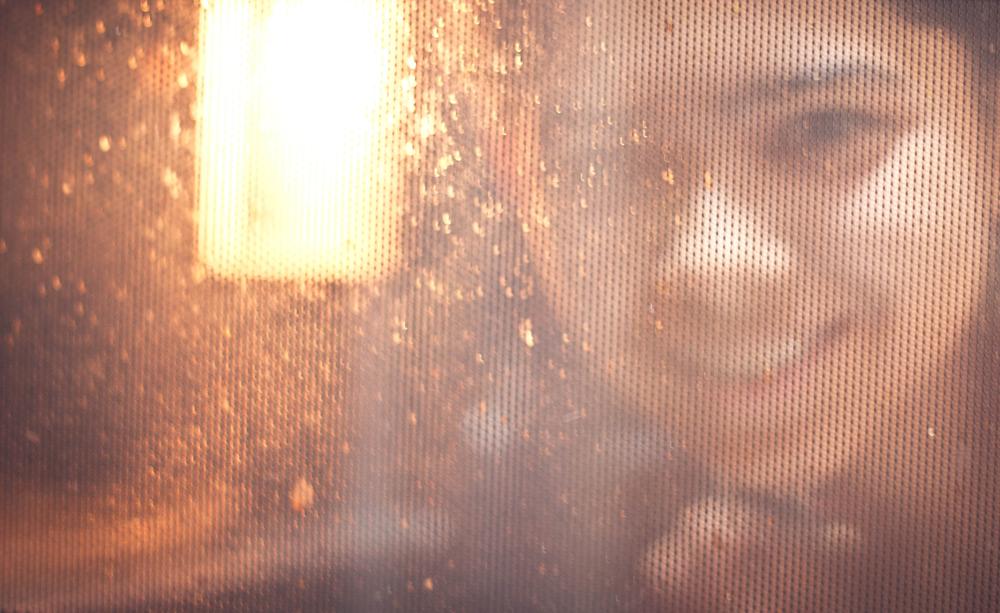 Microwave door portrait
