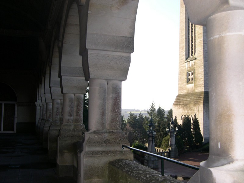 View from the patio of the basilique