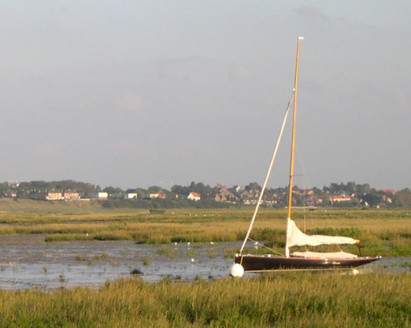 The boat at ebb tide