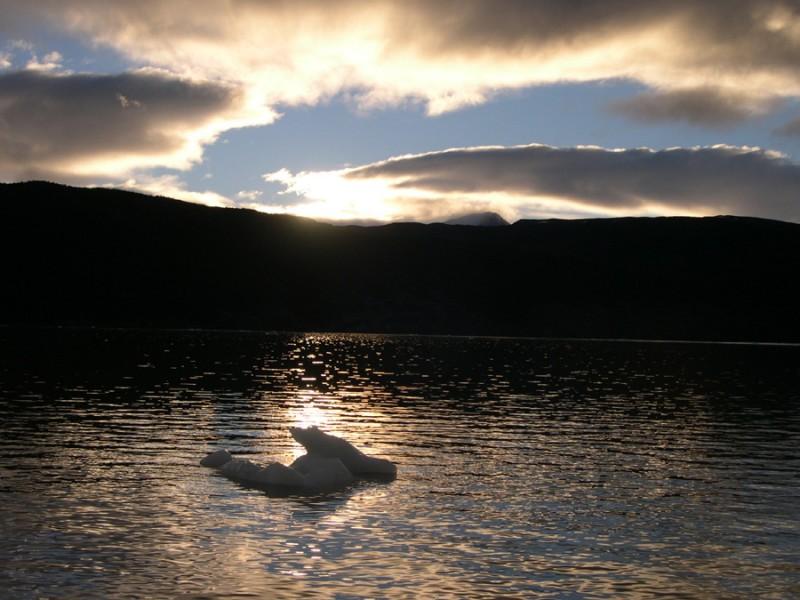 Sunset on iceberg