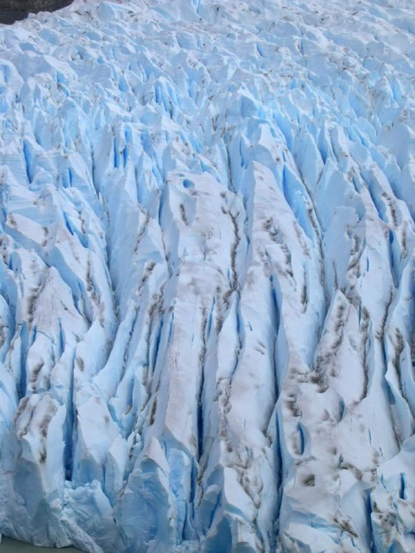 The glacier's detail