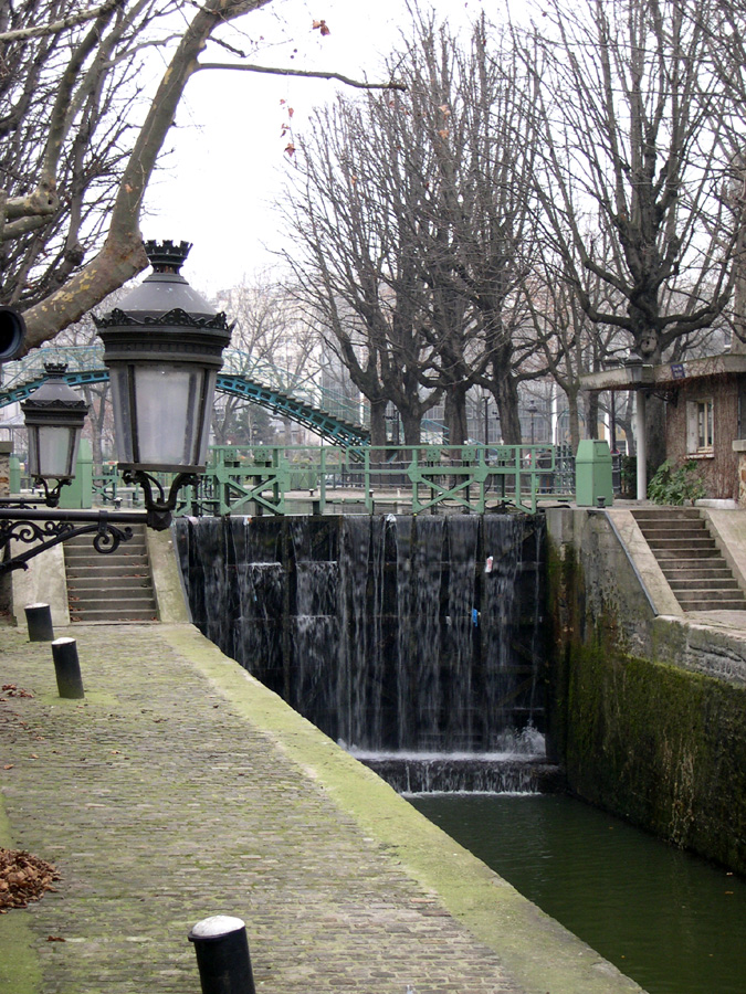 Lock of the canal Saint Martin