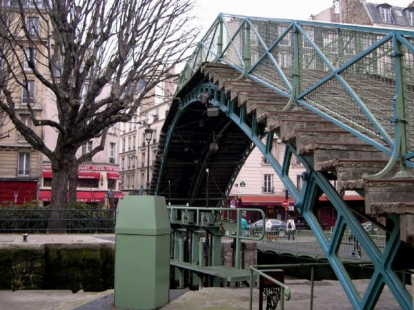 Bridge of the canal Saint Martin