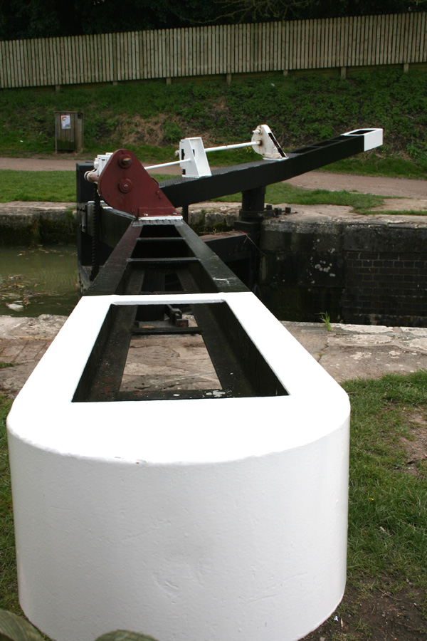 Detail view of a lock
