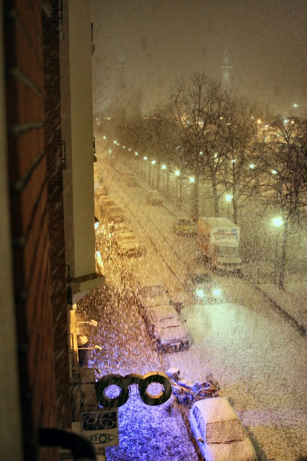 Snowstorm on Paris.
