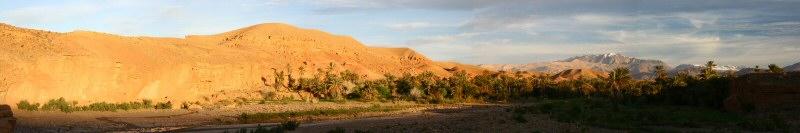 Sunrise on an oasis near Ouarzazate.