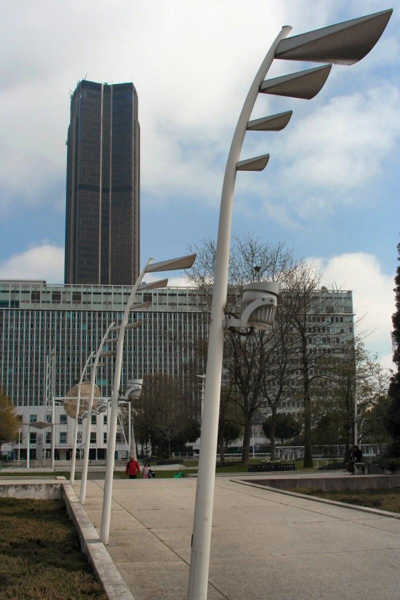 Montparnasse tower from Montparnasse station.