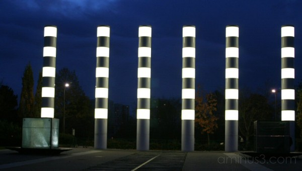 Light columns in Nanterre
