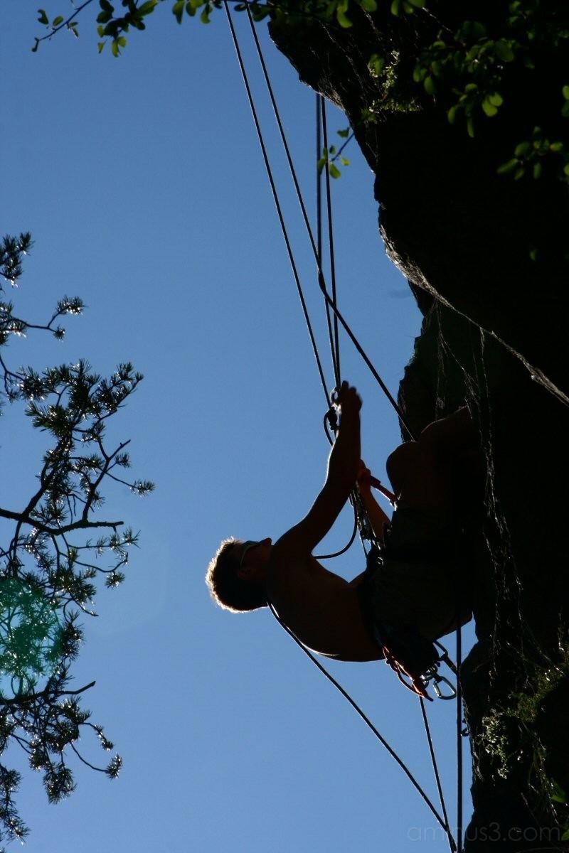 Julien climbing