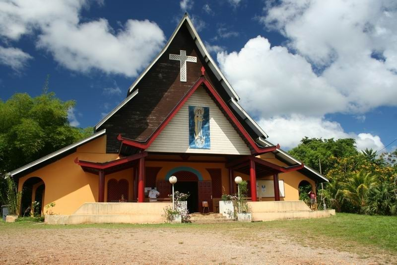 The church of Cacao in French Guyana