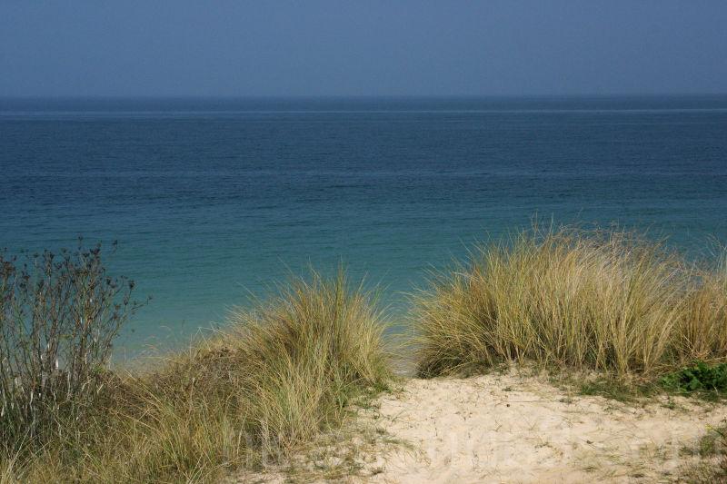 plage, belle ile, les grands sables