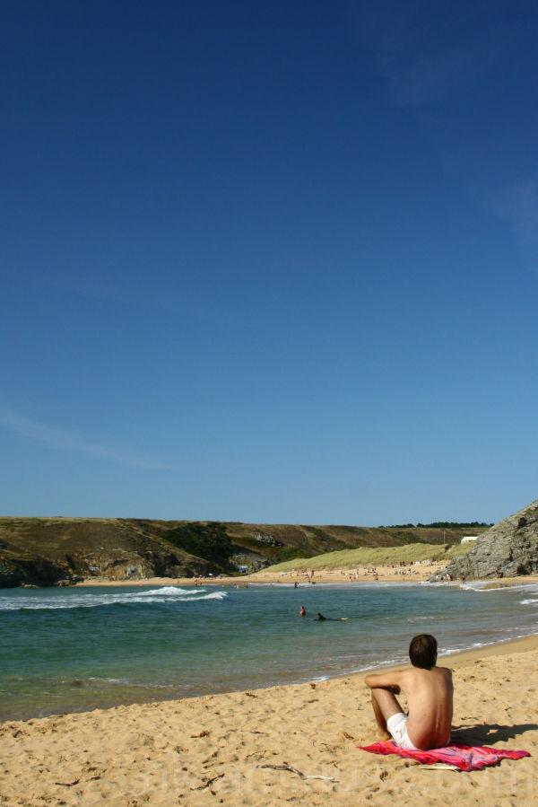 donnant, plage, vacances