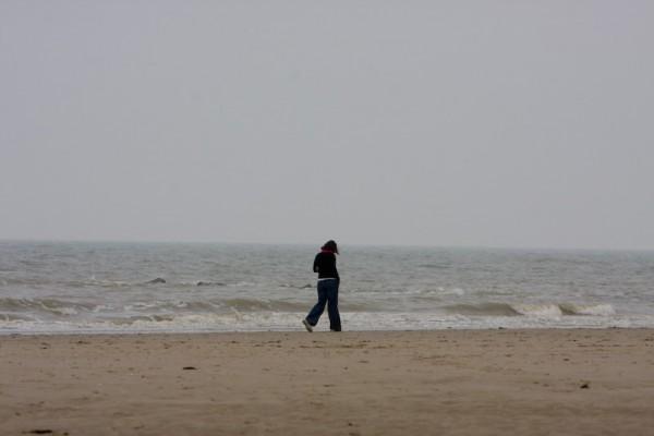 Woman at North Sea