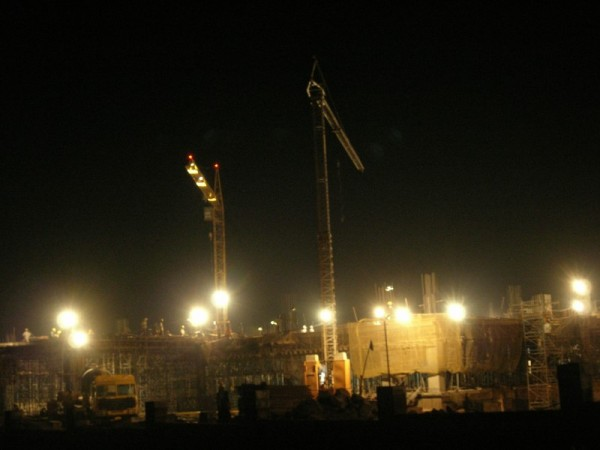 Construction at full swing near Hitech city
