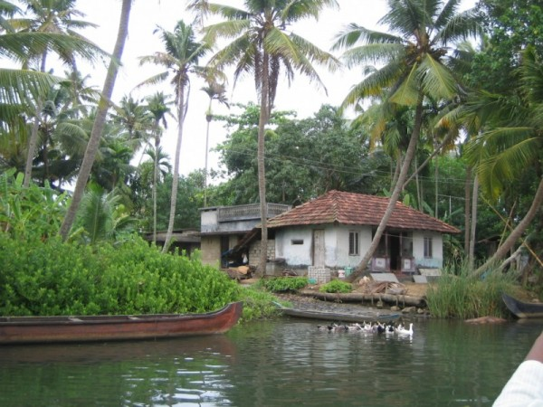 A Typical Village on an Island in Kerela