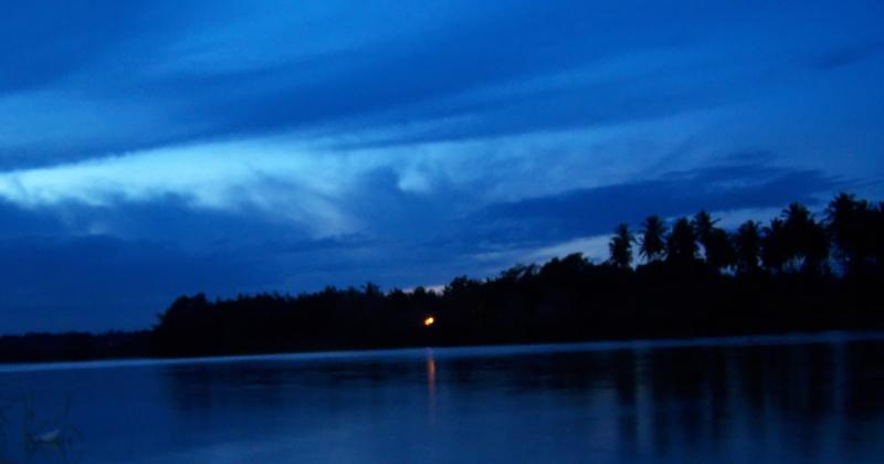 A Silent river bank.