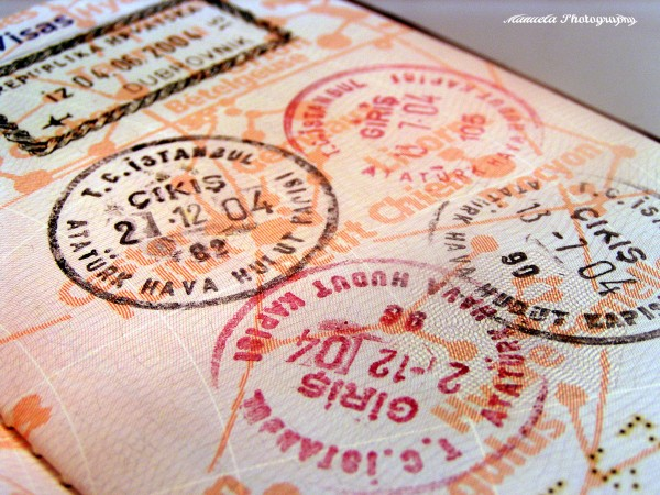 passport, stamps, travels, travelling, abroad,