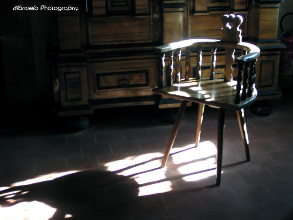 chair, furniture, shadow, ray, light, sun