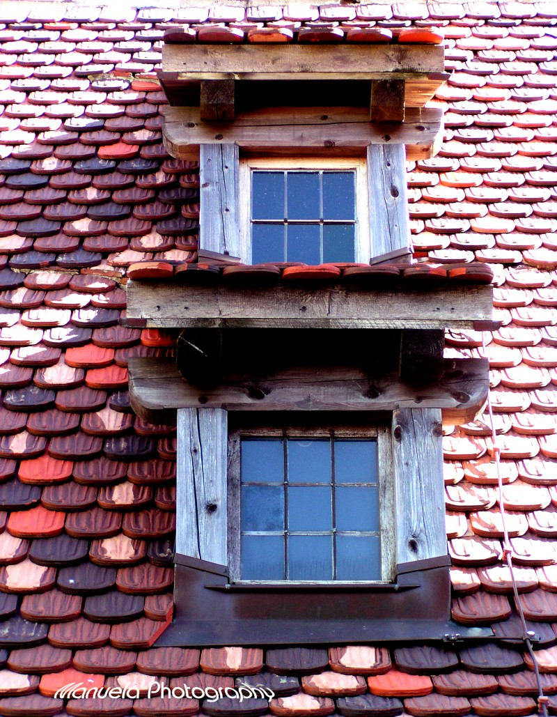 window roof castle brown red stone wood