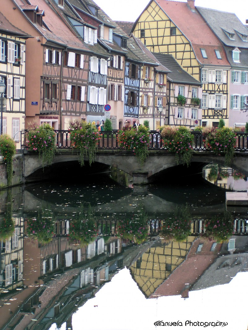 river canal france colmar alsace houses
