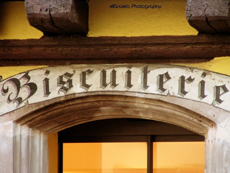 shop sign alsace france bakery biscuiterie