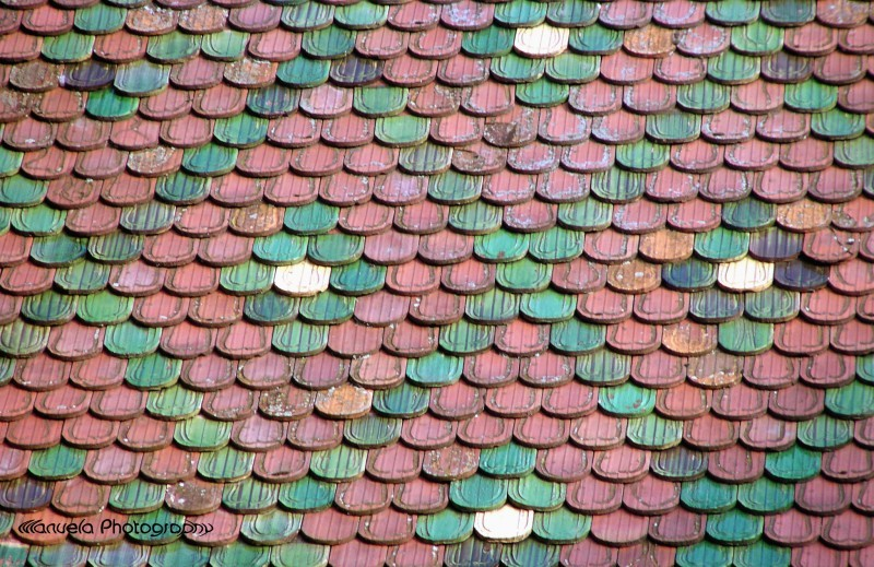 roof tiles colma alsace france house