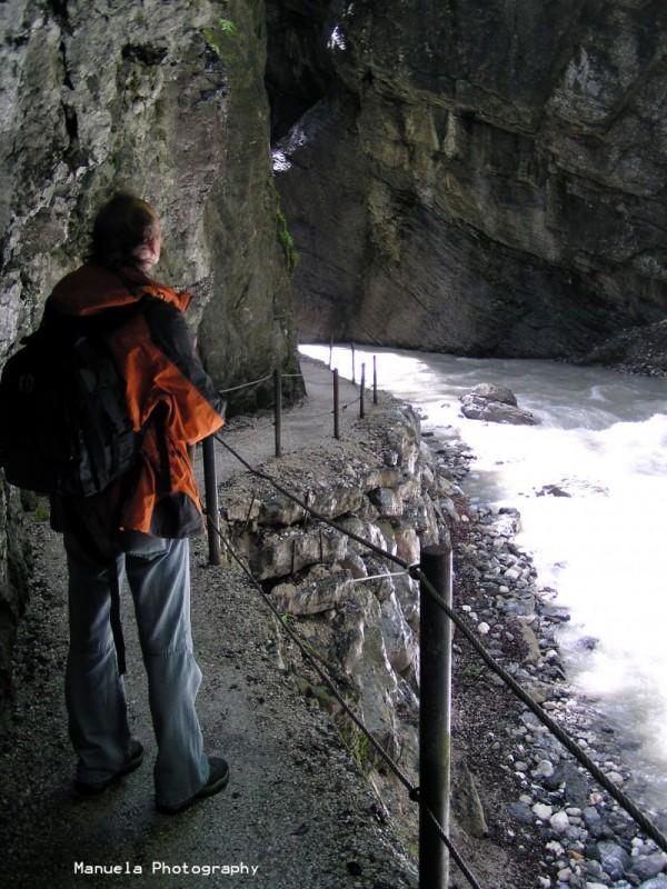 Partnachklamm gorge rapid river germany bavaria