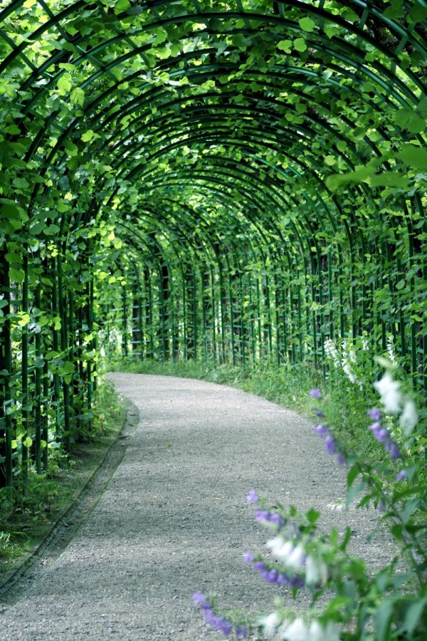 gardens arches palace germany linderhof