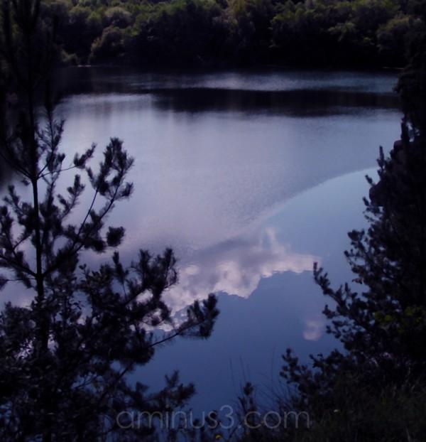stone water lake reflections dusk germany way pit