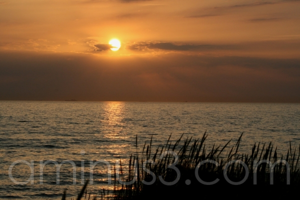 beach sunset sea sand germany baltic sea ostsee