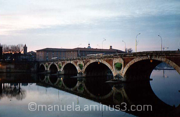 bridge, river, Toulouse, France, Pont Neuf