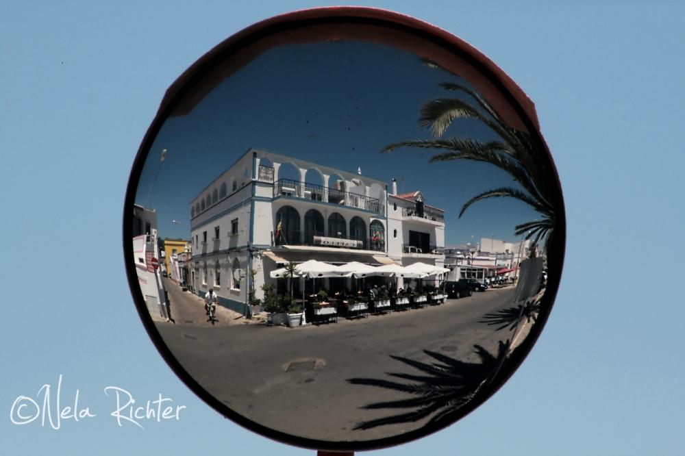 Portugal Santa Luzia holiday mirror reflections