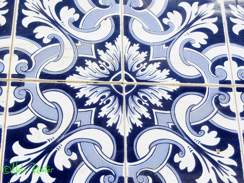 Portugal azulejos tiles blue albufeira algarve