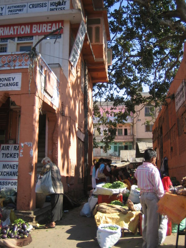 Busy Marketplace in the Pink City - Jaipur