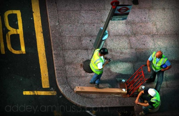 Workmen...