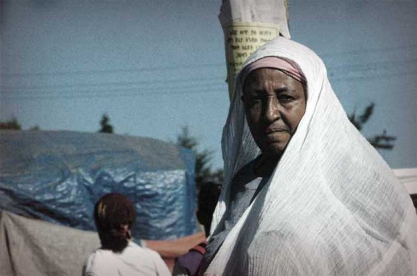 Old lady in Addis Town Centre