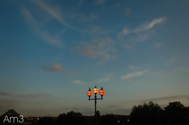 Three Lights at Dusk...