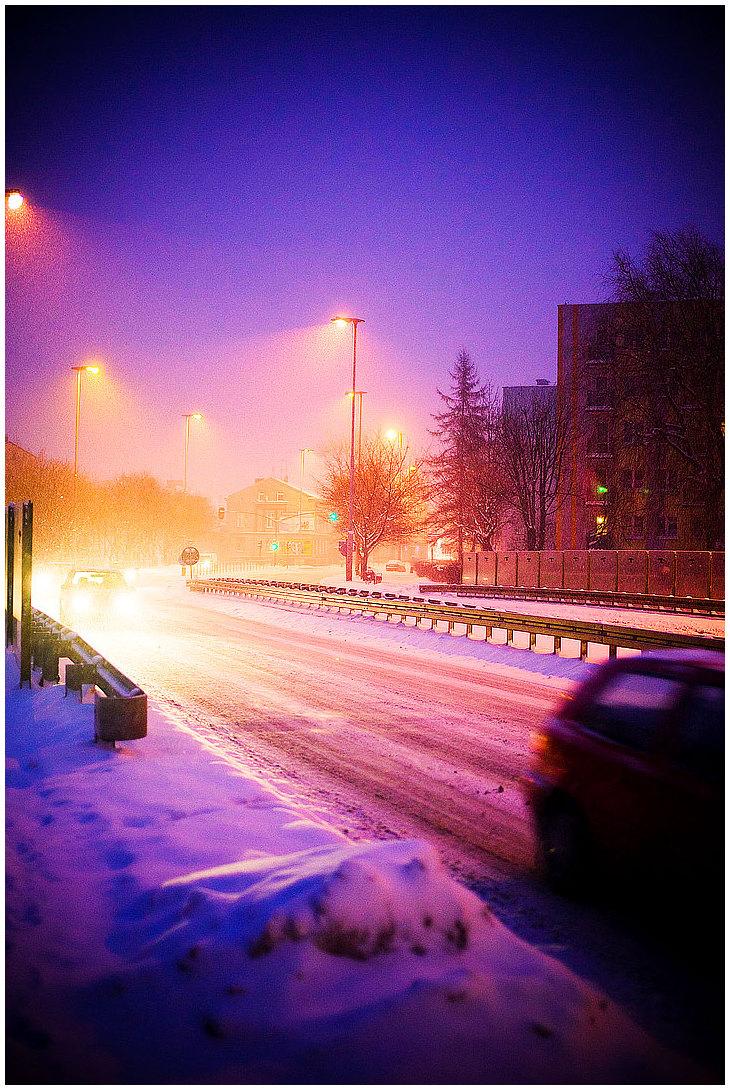 Polish Evening #3: Snowed Headlights...