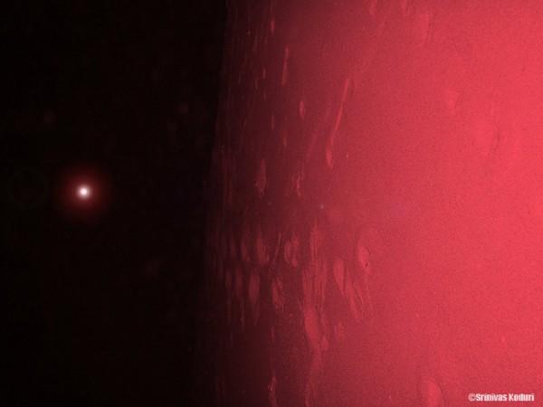 Crimson red planet