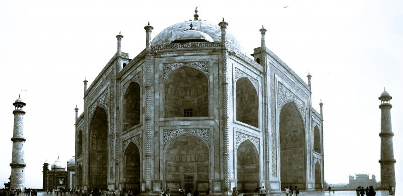 Taj mahal perspective split toned